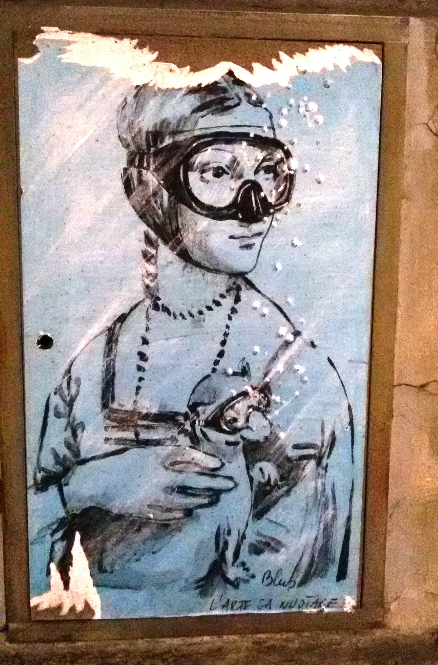 Arte urbano en Florencia. L´arte sa nuotare