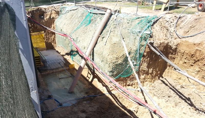 Recalce de muro de hormigón. Cálculo con e-struc y ejecución de la obra