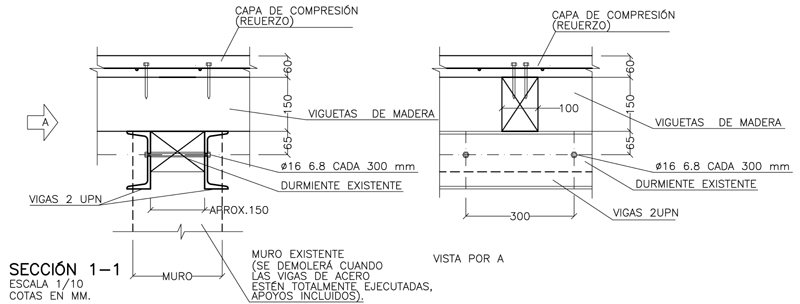 Rehabilitación de un edificio de estructura de madera II. El proyecto