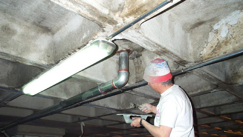 Recubrimiento deficiente de las armaduras en el hormigón. Reparación