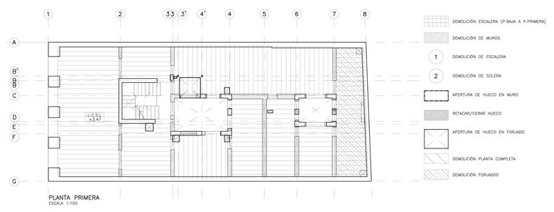 Rehabilitación de estructura de un edificio de madera