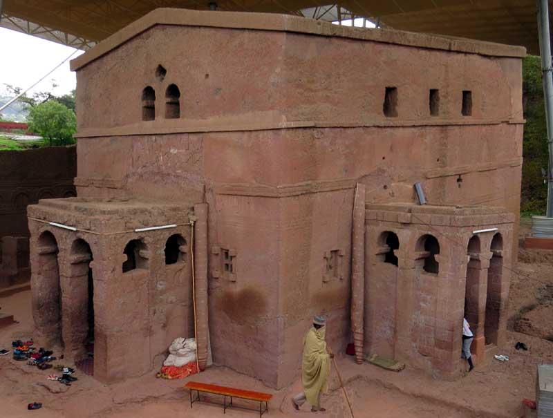 Iglesias talladas en la roca de lalibela, etiopía. Biete Mariam