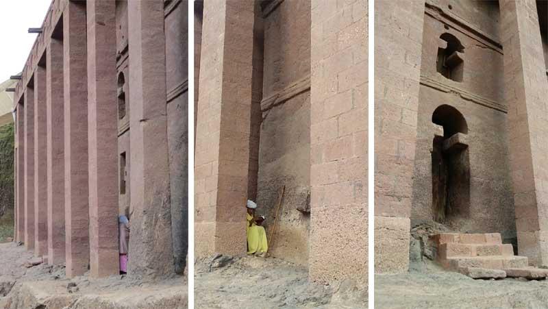 Iglesias talladas en la roca de lalibela, etiopía. Peristilo