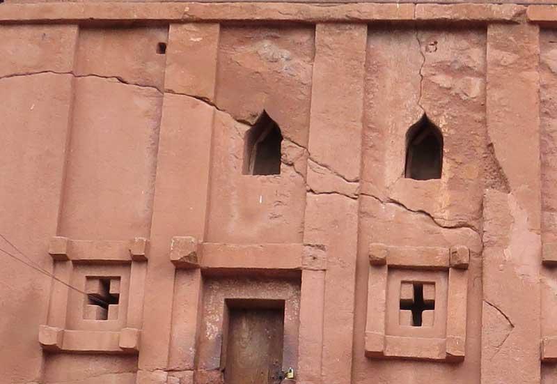 Iglesias talladas en la roca de lalibela, etiopía. Biete Lebanos