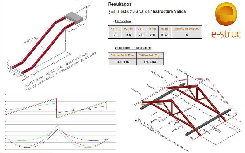 Aplicación de cálculo de estructuras online estructuras de acero escaleras