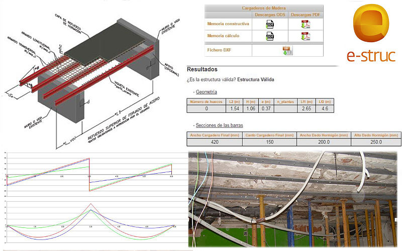 Aplicación de cálculo de estructuras online para refuerzo de forjados