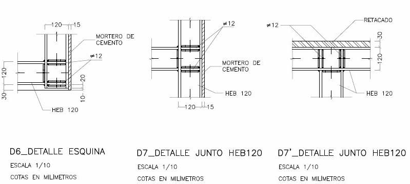 Proyecto de consolidación de un muro de carga a partir del estudio previo del mismo. Marco metálico en cargaderos