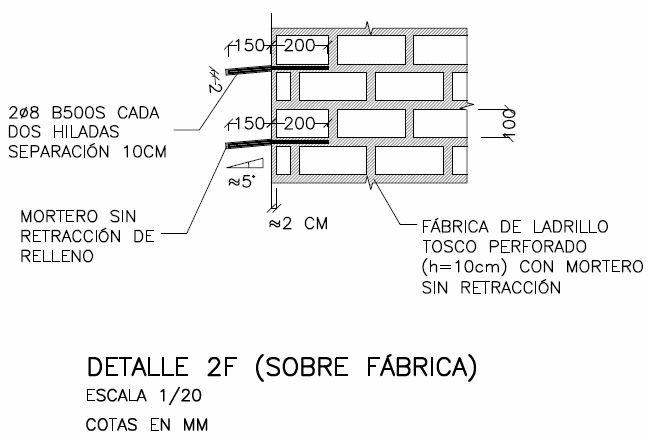 Proyecto de consolidación de un muro de carga a partir del estudio previo del mismo. Enjarjes.