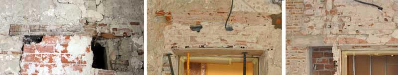 Proyecto de consolidación de un muro de carga a partir del estudio previo del mismo. Cargaderos
