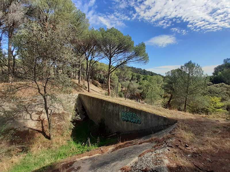 Presa de El Gasco, camino