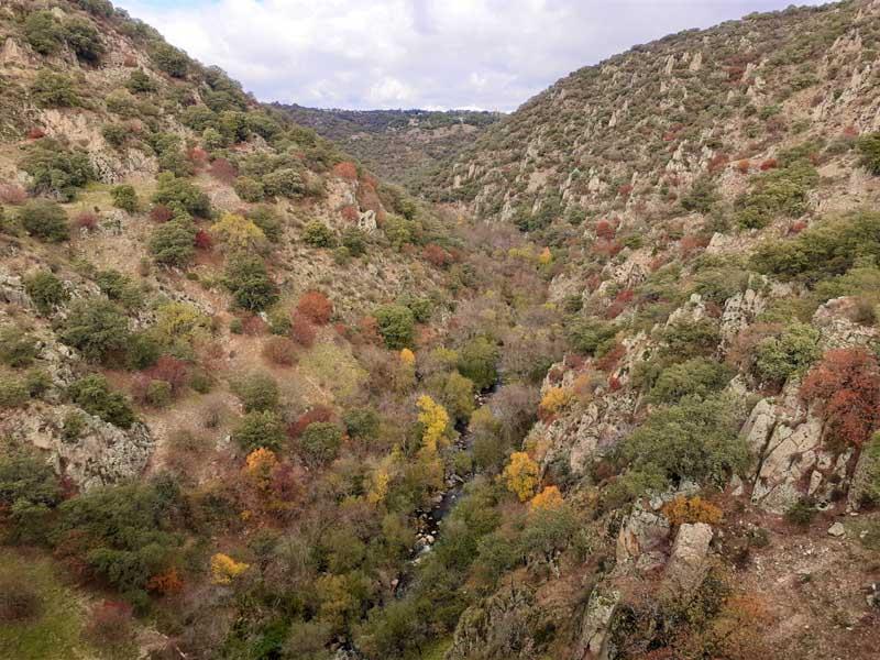 Vista del Parque Regional desde Presa inacabada de El Gasco