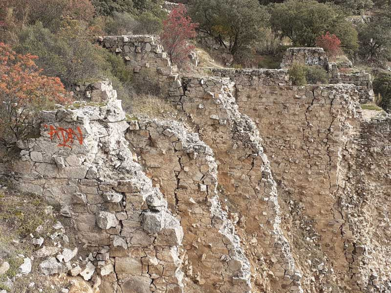 Presa de El Gasco, vista detalle