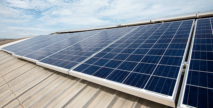 Paneles solares cubierta